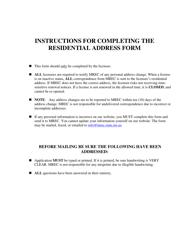 """Residential Address Form"" - Mississippi"