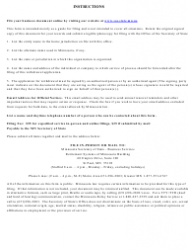 """""""Certificate of Withdrawal - Foreign Limited Liability Company"""" - Minnesota, Page 2"""
