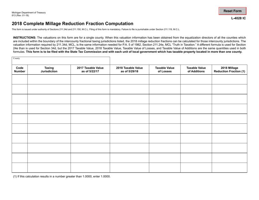 Form 613 2018 Fillable Pdf