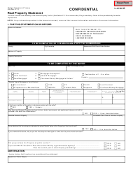 "Form 635 ""Real Property Statement"" - Michigan"