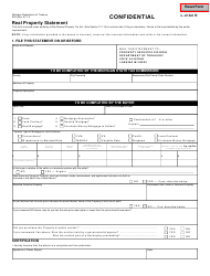Form 635 Real Property Statement - Michigan