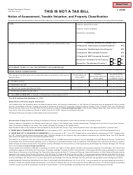 Form 1019 Notice of Assessment, Taxable Valuation, and Property Classification - Michigan