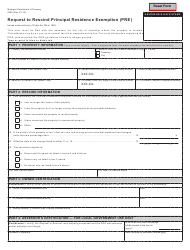 Form 2602 Request to Rescind Principal Residence Exemption (Pre) - Michigan