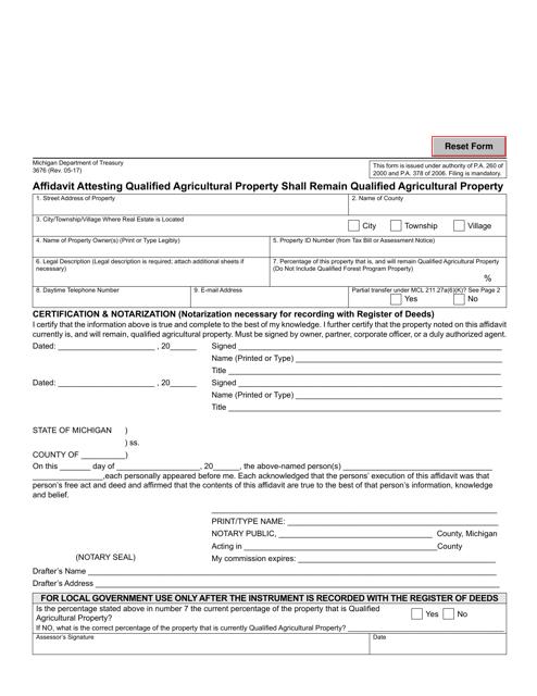 Form 3676 Printable Pdf