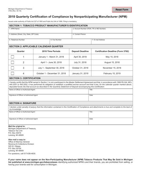 Form 3762 2018 Fillable Pdf
