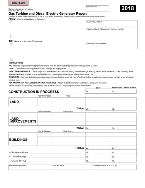 Form 3991 2018 Fillable Pdf