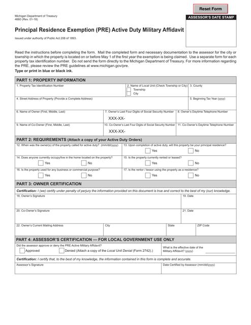 Form 4660  Printable Pdf
