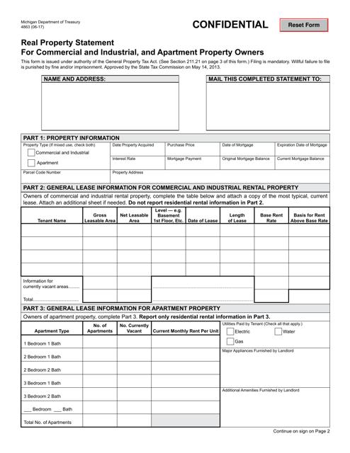 Form 4863 Printable Pdf
