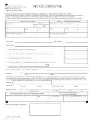 "Form STMV6U ""Use Tax Certificate"" - Maine"