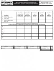 Form R-6411 2015 Legislation Recovery Worksheet for Corporation, Fiduciary, and Composite Returns - Louisiana