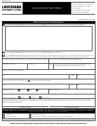 "Form R-2000 ""Louisiana Identity Theft Affidavit"" - Louisiana"