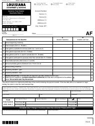 "Form R-5347 ""Aviation Fuel Dealer Quarterly Return"" - Louisiana"
