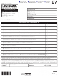Form R-5608 Tobacco Tax Return for Retail Dealers of Vapor Products - Louisiana