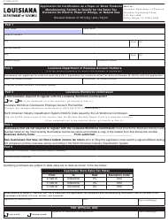Form R-1069 Application for Certification as a Paper or Wood Products Manufacturing Facility to Qualify for the Sales Tax Exclusion for Electric Power or Energy, or Natural Gas - Louisiana
