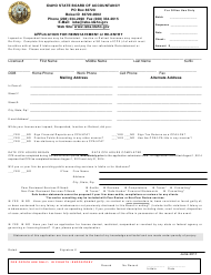 Application for Reinstatement or Re-entry - Idaho