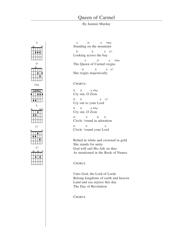 Jeannie Murday - Queen of Carmel Guitar Chord Chart