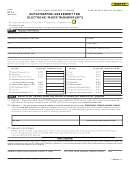 Form EFT-1 Authorization Agreement for Electronic Funds Transfer (Eft) - Hawaii