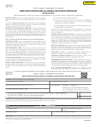 Form HW-4 Employee's Withholding Allowance and Status Certificate - Hawaii