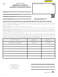 Form L-9 Request to Place Tax Account on Inactive Status - Hawaii