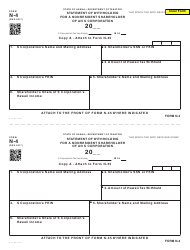 Form N-4 Statement of Withholding for a Nonresident Shareholder of an S Corporation - Hawaii