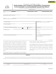 Form N-303 Authorization and Consent of Subsidiary Corporation to Be Included in a Consolidated Income Tax Return - Hawaii