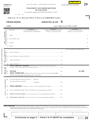 Form TA-1 Transient Accommodations Tax Return - Hawaii