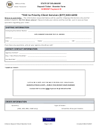 Deposit Ticket Reorder Form - Current Payment Id - Delaware