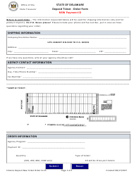 Deposit Ticket Order Form - New Payment Id - Delaware