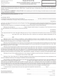 "Form CT-12-717A ""Change of Resident Status - Special Accruals Connecticut Surety Bond Form"" - Connecticut"