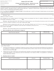 "Form CT-12-717B ""Change of Resident Status - Special Accruals Other Acceptable Security Form"" - Connecticut"