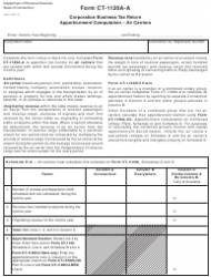 Form CT-1120A-A Corporation Business Tax Return Apportionment Computation - Air Carriers - Connecticut