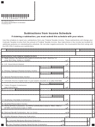 "Form DR0104AD ""Subtractions From Income Schedule"" - Colorado"