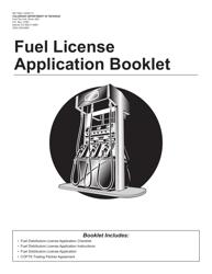 """Form DR7064 """"Fuel License Application Booklet"""" - Colorado"""