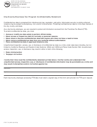 "Form FTB712 ""City/County Business Tax Program Confidentiality Statement"" - California"