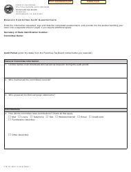 "Form FTB781 ""Measure Committee Audit Questionnaire"" - California"