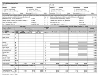 Form FTB 2335 Vita Military Worksheet - California