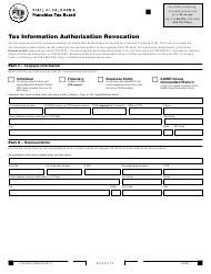 Form FTB 3535 Tax Information Authorization Revocation - California