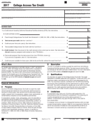 Form FTB 3592 College Access Tax Credit - California
