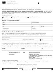 Form FTB 4073 Mandatory E-Pay Pay-By-Phone Authorization Agreement for Individuals - California