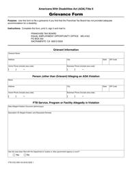 Form FTB 5722 Grievance Form - California