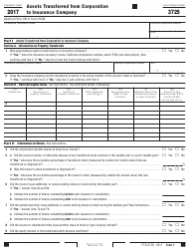 Form FTB 3725 2017 Assets Transferred From Corporation to Insurance Company - California