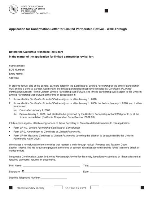Form 3557A LP  Printable Pdf