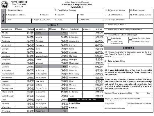 State Form 4949 Fillable Pdf