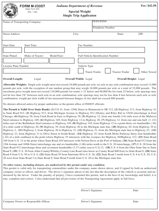 State Form 944 Fillable Pdf