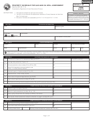 State Form 9931 Form G & O-1 - Property Schedule for Gas and Oil Well Assessment - Indiana
