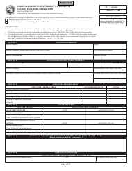 State Form 55183 Form Cf-1 / Vbd - Compliance With Statement of Benefits Vacant Building Deduction - Indiana