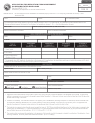 """Form 322 (State Form 49568) """"Application for Deduction From Assessment on Rehabilitated Dwellings"""" - Indiana"""