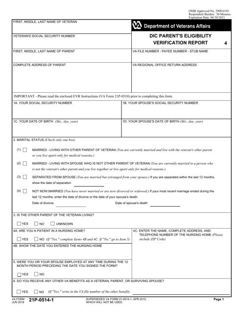VA Form 21P-0514-1 Printable Pdf