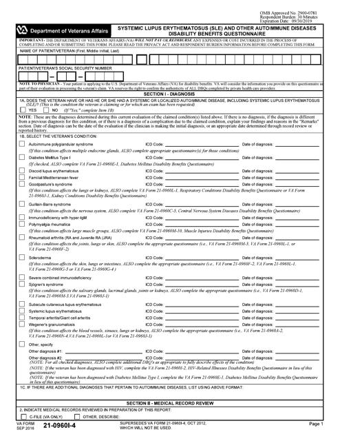 VA Form 21-0960I-4 Printable Pdf