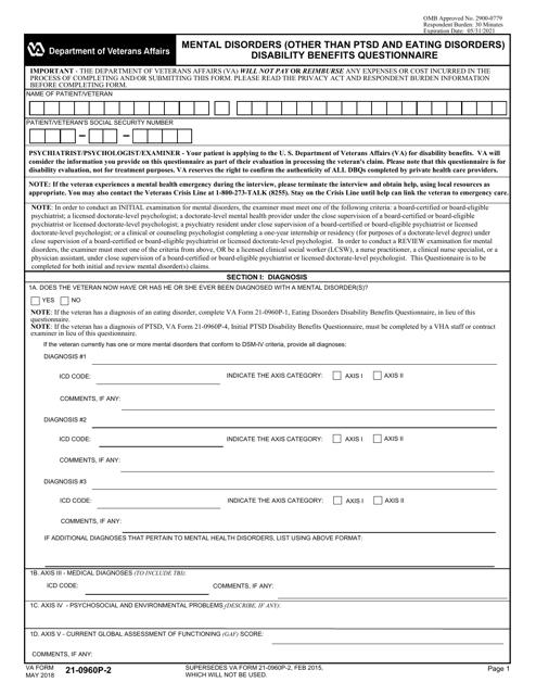 VA Form 21-0960P-2 Printable Pdf
